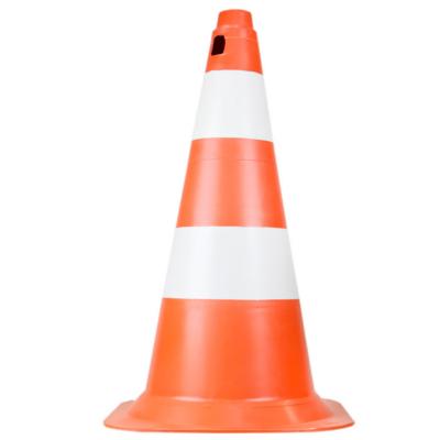 Cone de Sinalização 50cm Branco e Laranja PE VONDER