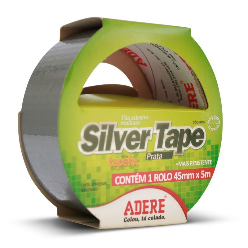 Fita Silver Tape Cinza 45mmx5mt ADERE