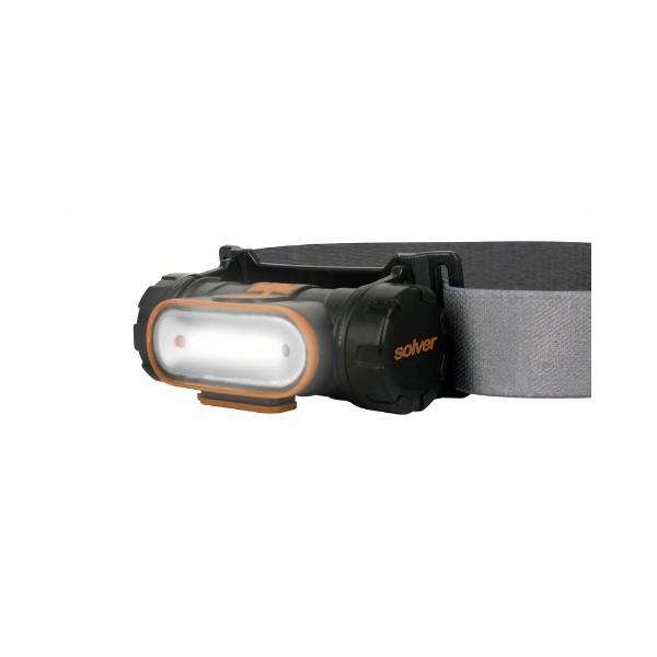 Lanterna de Cabeça Led Recarregável com Sensor SLP-12 Pro 5w 300lm SOLVER