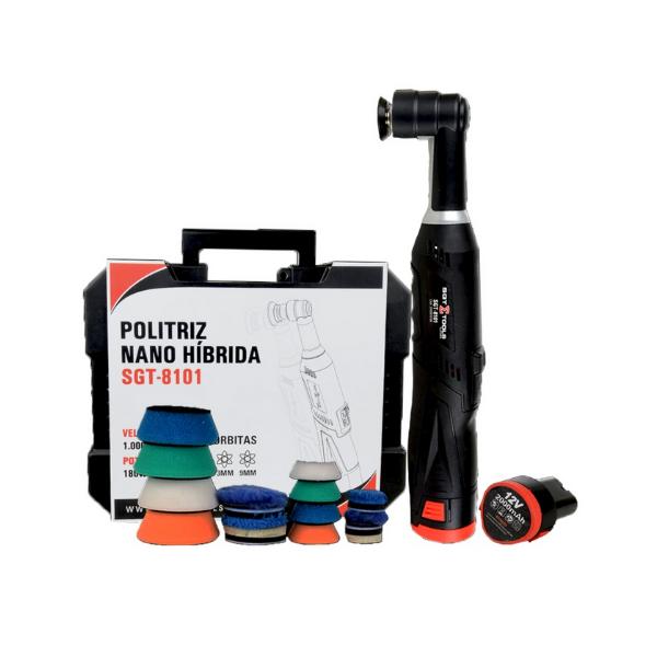 Politriz Nano Hibrida com 2 Baterias 12v SGT-8101 180W SIGMA TOOLS