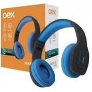 Headset Oex Vibe Hs305 Azul Bluetooth C/ Microfone