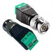 Kit com 10 Conector BNC Macho C/Borne