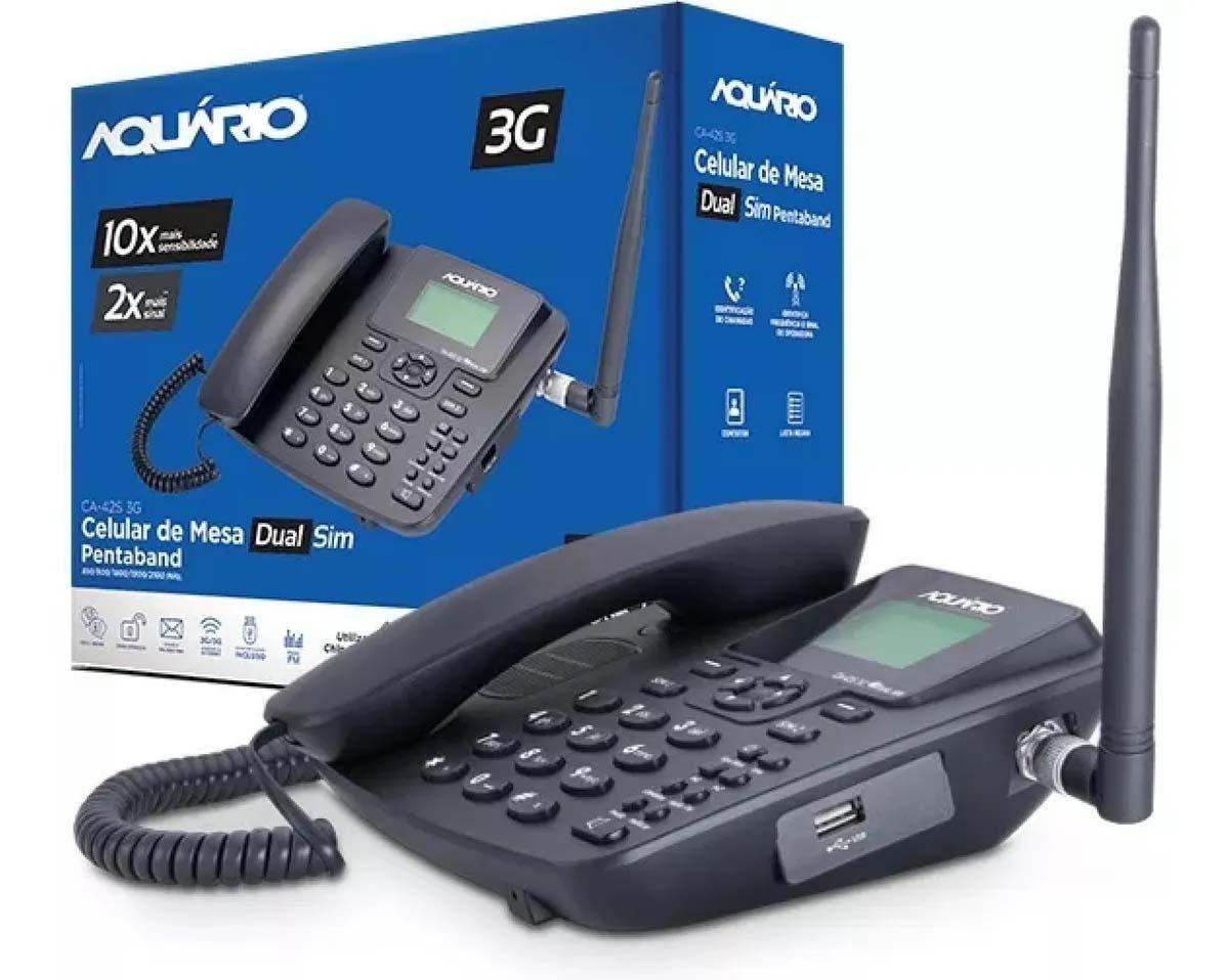 Celular Rural Quad Band 3G Aquario