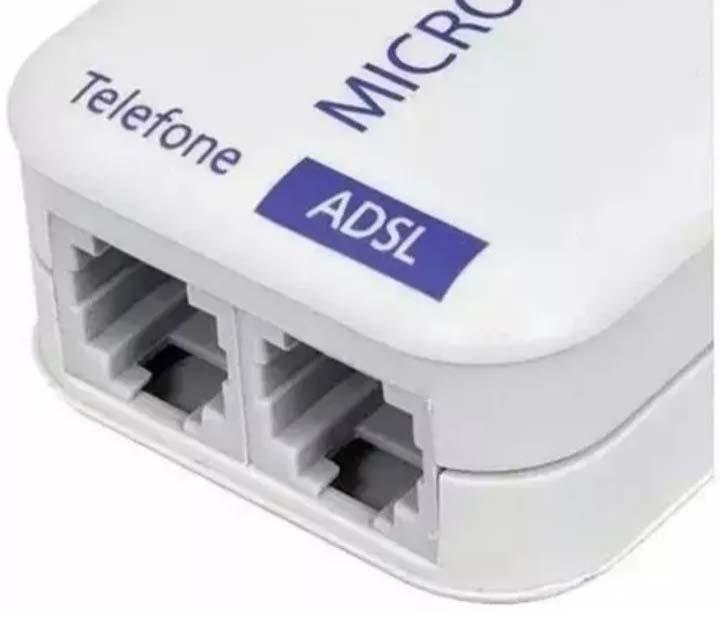 Filtro Telefone ADSL + Modem Duplo 2 Saidas