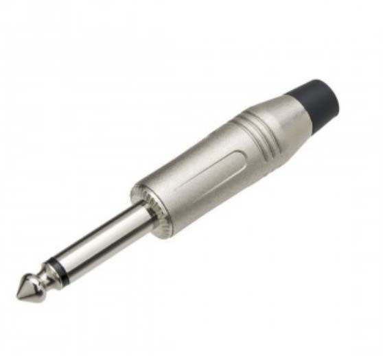 Plug P10 Mono Profissional Prata