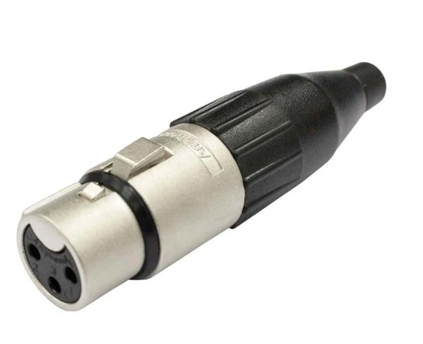 Plug XLR Femea Metal Profissional