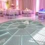 Piso Diamante 5x5m - LED Branco