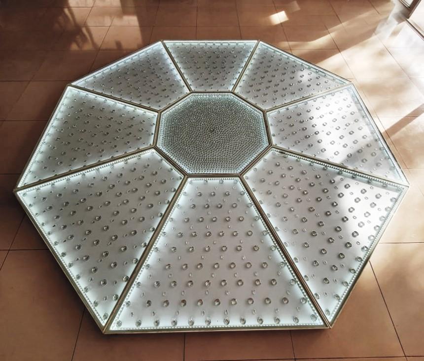Pista Diamante 3x3m - LED Branco