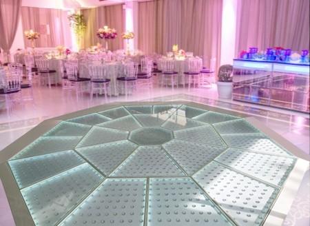Pista Diamante 5x5m - LED Branco