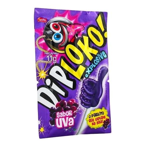 10 Pirulitos Explosivo Diploko Uva