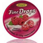 Balas fine drops 175g sabor framboesa - Woogie