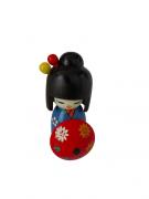 Boneca Kokeshi Azul Com Guarda Chuva - KL