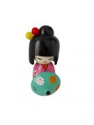 Boneca Kokeshi Rosa Com Guarda Chuva - KL