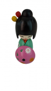 Boneca Kokeshi Verde Com Guarda Chuva - KL