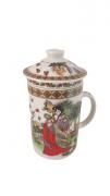 Caneca Para Chá Com Infusor Oriental Modelo 3 KL