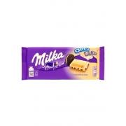 Chocolate Branco Com Recheio De Biscoito Oreo Milka 100g
