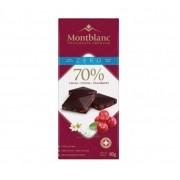 Chocolate Montblanc Stevia Zero Açucar Sabor Cramberry com 70% Cacau 80g