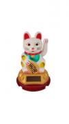 Enfeite Gato da Sorte Branco 8cm - KL