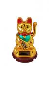Enfeite Gato da Sorte Dourado 8cm - KL