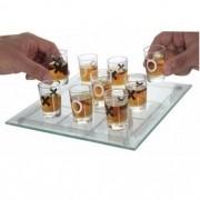 Jogo Da Velha Shot / Drink Em Vidro C/ 9 Copos Pequeno