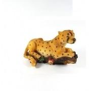 Leopardo Em Resina Escultura Decoração