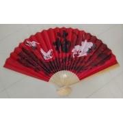Leque De Parede Oriental Tsuru Vermelho - KL