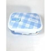 Marmiteira C/ 2 Divisorias E Colher C/trava Azul Lunch Box