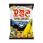 Salgadinho de milho picante 72g popping corn chips - Lotte