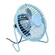 Ventilador Usb Em Metal Cor Azul (azul, Cromado, 5)