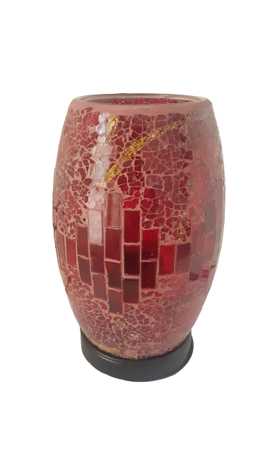 Abajur Mosaico Vermelho 20cm