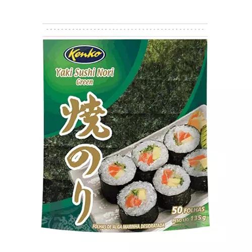 Alga Marinha Yaki Sushi Nori 50 Folhas