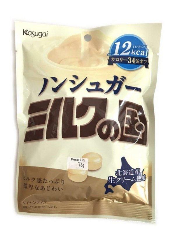 Bala de Leite Light Sabor Kuni Kasugai - Milk no Kuni Light Candy 76g