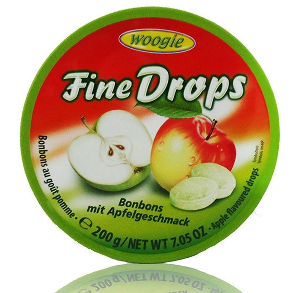 Bala Fine Drops Maça Verde - Woogie - Importada