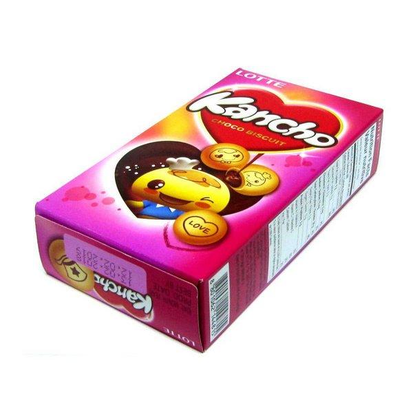 Biscoito de Chocolate Kancho Lotte 42g