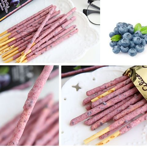 Biscoito De Palito Glico Pocky Mirtilo Blueberry 41g