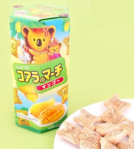 Biscoito Lotte Coala Sabor Manga 50g
