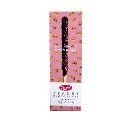Biscoito Tipo Sticks Coberto Chocolate E Amendoim - Lovint - Coréia