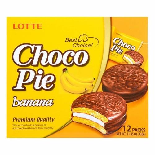 Bolinho De Chocolate E Banana Choco Pie Lotte 336g