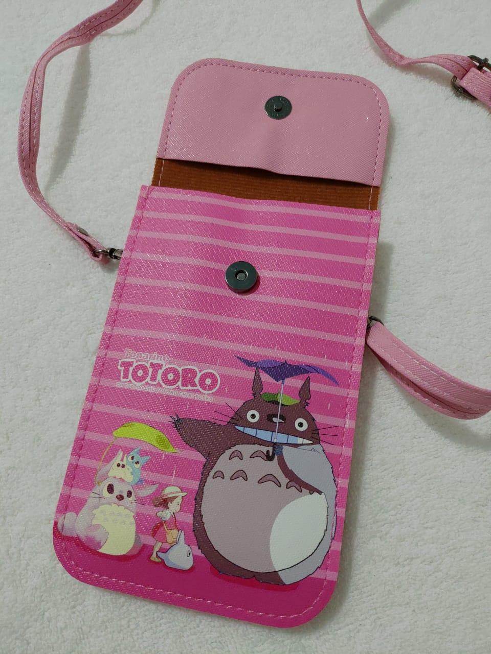 Bolsa com alça Totoro Rosa Material sintético - KL