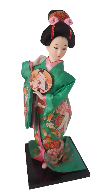 Boneca Gueixa Oriental Japonesa Modelo 17 KL