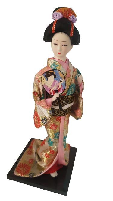 Boneca Gueixa Oriental Japonesa Modelo 18 KL
