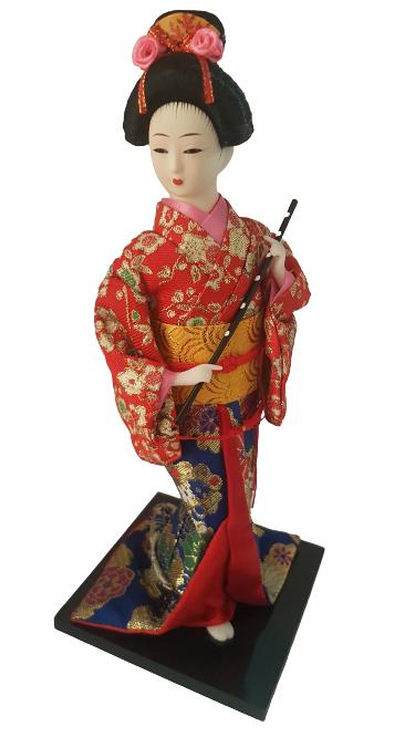 Boneca Gueixa Oriental Japonesa Modelo 19 KL