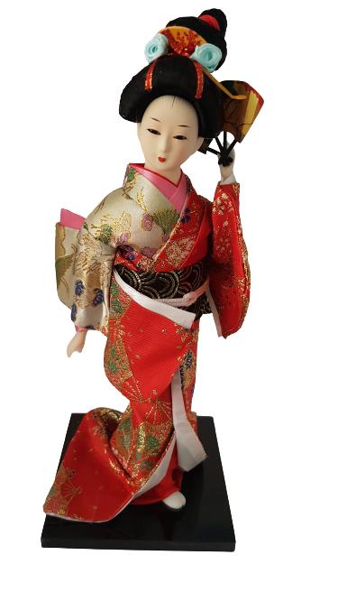 Boneca Gueixa Oriental Japonesa Modelo 22 KL