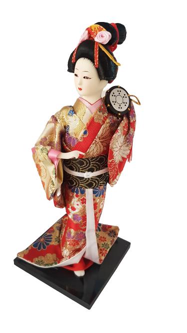 Boneca Gueixa Oriental Japonesa Modelo 25 KL