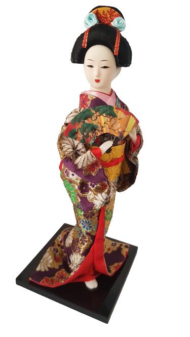 Boneca Gueixa Oriental Japonesa Modelo 30 KL