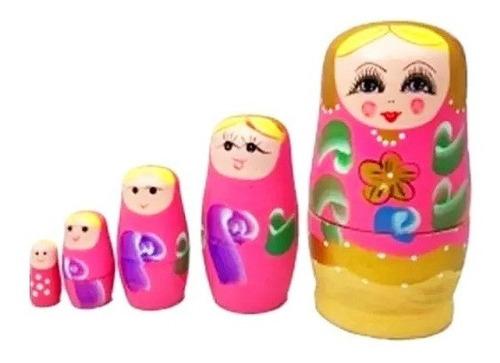 Boneca Russa Matrioska Rosa