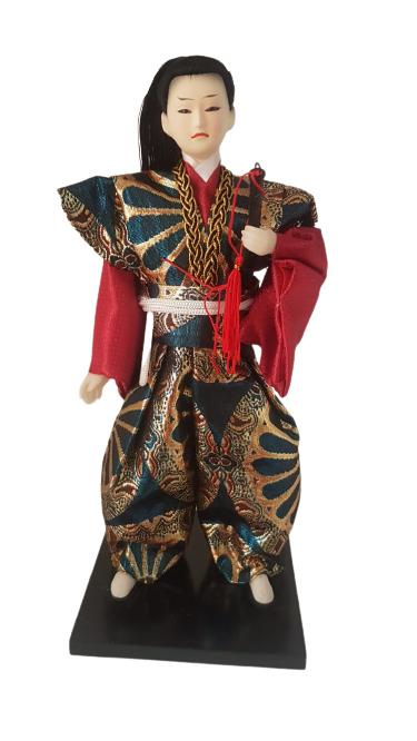 Boneco Samurai Oriental Japonês Modelo 11 KL