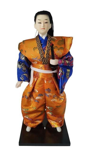 Boneco Samurai Oriental Japonês Modelo 1 KL