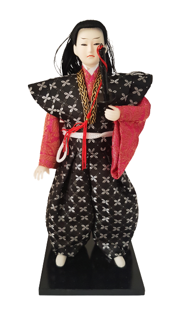 Boneco Samurai Oriental Japonês Modelo 2 KL