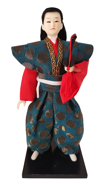 Boneco Samurai Oriental Japonês Modelo 3 KL